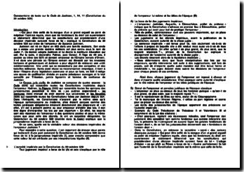 Commentaire de texte sur le Code de Justinien