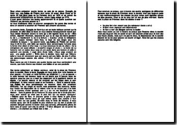 Etude de quatre textes : Évangile de Saint-Luc, Les Fables de Phèdre, Les deux coqs de La Fontaine et Fable de Voltaire