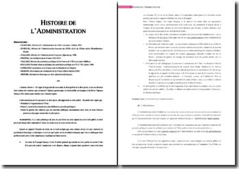 L'histoire de l'Administration: l'ancien régime