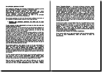 Création des principes généraux du droit par le juge administratif