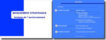 Management stratégique : analyse de l'environnement