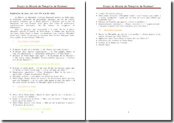 Le Miracle de Théophile - Rutebeuf : explication de texte, des vers 539 à la fin (663)