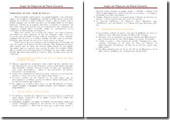 Polyeucte, incipit - Pierre Corneille : les conséquences de la conversion au christianisme de Polyeucte