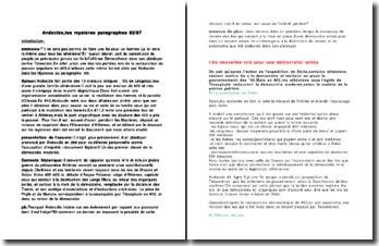 Les mystères, paragraphes 82/87 - Andocide