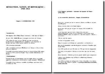Révolution, nation et républiques: 1789 - 1914