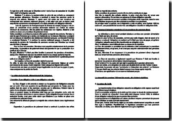 Commentaire d'arrêt de la Première Chambre civile de la Cour de cassation du 12 juillet 1994 : l'obligation naturelle