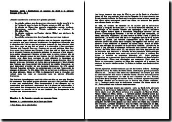 Institutions et sources du droit de l'Empire romain au royaume franc