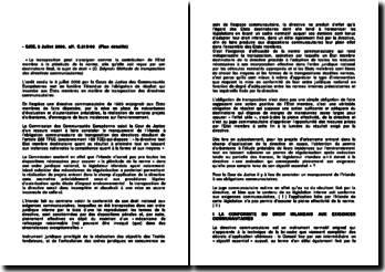 Commentaire d'arrêt de la Cour de Justice des Communautés européennes du 3 juillet 2008 : les obligations communautaires