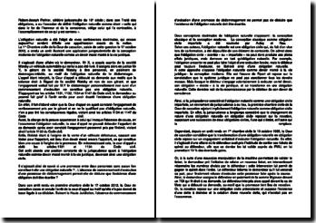 Commentaire d'arrêt de la Première Chambre civile de la Cour de cassation du 17 octobre 2012 : l'obligation naturelle