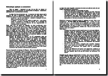 Méthodologie appliquée au commentaire en droit constitutionnel