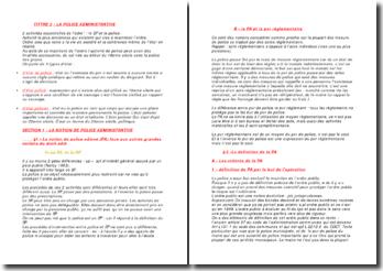 Droit administratif : la police administrative, les moyens de l'action administratif et le contrôle de l'administration