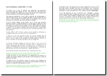 Fiche d'arrêt de la Première Chambre civile de la Cour de cassation du 6 juillet 2005 : le principe d'Estoppel