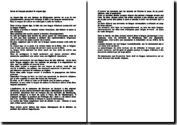 Ecrire en françaispendant le Moyen-Age
