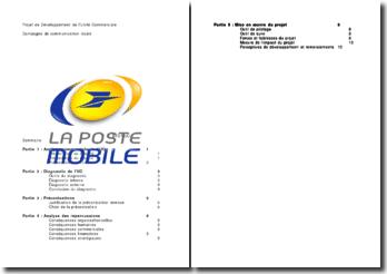 Projet de Développement de l'Unité Commerciale : La Poste mobile