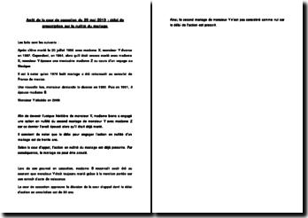 Fiche d'arrêt de la Cour de cassation du 29 mai 2013 : délai de prescription sur la nullité du mariage
