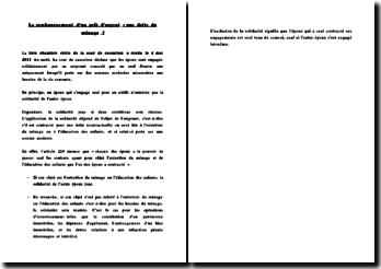 Fiche d'arrêt de la 1ère Chambre civile de la Cour de cassation du 4 mai 2011 : le remboursement d'un prêt d'argent : une dette du ménage ?