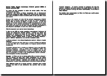 Service Public, Service économique d'intérêt général (SIEG) et Service universel (SU)