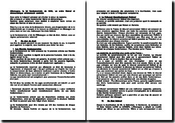 Allemagne, la loi fondamentale de 1949, un ordre libéral et démocratique strictement contrôlé