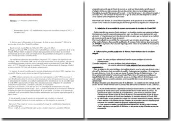 Commentaire d'arrêt du Conseil d'Etat, confédération française des travailleurs français (CFTC), 2 décembre 2012