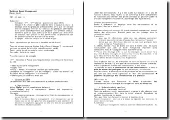Evidence Based Management - Xavier Caroff