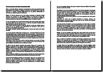 Fiche d'arrêt de la Première Chambre civile de la Cour de cassation du 24 septembre 2009 : le droit de rétention