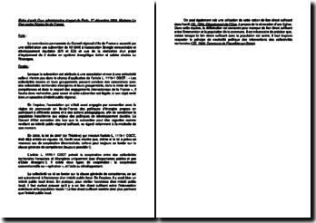 Fiche d'arrêt de la Cour administrative d'appel de Paris, 1er décembre 2009, Madame Le Pen contre Région Ile-de-France