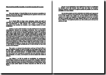 Fiche d'arrêt du Conseil d'Etat, Assemblée, 11 mai 2004, Association AC ! et autres