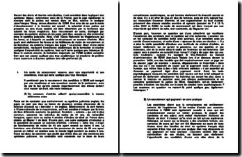 Les forces et les faiblesses du mode de recrutement et de formation du système français des juges