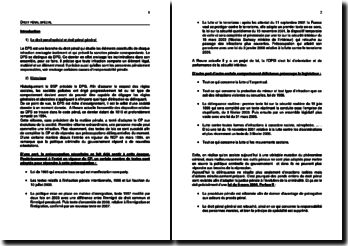 Le droit pénal spécial : les infractions contre les personnes et les infractions contre les biens