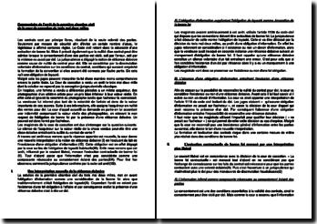 Commentaire de l'arrêt de la Première Chambre civile de la Cour de cassation du 3 mai 2000 : la réticence dolosive