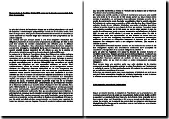 Commentaire d'arrêt de la Chambre commerciale de la Cour de cassation du 29 juin 2010 : l'imprévision