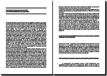 Commentaire d'arrêt de la Chambre criminelle de la Cour de cassation du 8 janvier 2008 : les limites de responsabilité dans l'exercice de l'autorité parentale