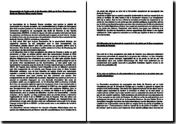 Commentaire de l'arrêt rendu le 20 décembre 2005 par la Cour Européenne des Droits de l'Homme : Wisse contre France