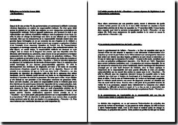 Réflexions sur la loi du 4 mars 2002 : la «loi Kouchner»