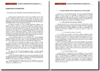 Commentaire d'arrêt de la Cour Administrative d'Appel de Lyon du 29 avril 2008 : domaine public, domaine privé