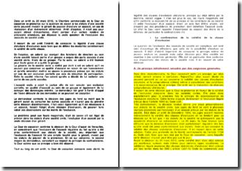 Commentaire d'arrêt de la Chambre commerciale de la Cour de cassation du 20 mars 2012 : l'exclusion d'un associé