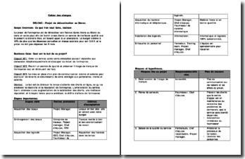 Cahier des charges pour un projet de délocalisation au Maroc