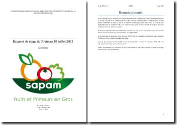 Introduction au monde du travail dans le secteur des fruits et légumes