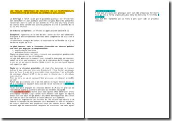 Les règles générales de recours de la responsabilité administrative en matière de dommage écologique