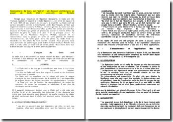 Commentaire de texte sur l'extrait « du discours préliminaire au projet de Code Civil » présenté par Portalis