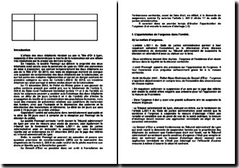 Commentaire d'arrêt du Conseil d'Etat du 21 décembre 2012 : l'urgence de la situation et la mesure d'abattage