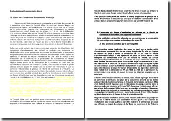 Commentaire d'arrêt du Conseil d'Etat du 23 mai 2003 : Communauté de communes Artois-Lys