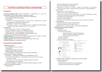 Consultation de génétique clinique et dysmorphologie