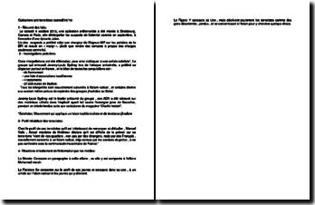 L'opérations anti terroristes du samedi 06-10-2012