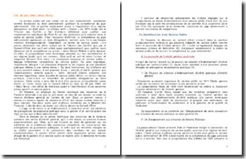 Commentaire d'arrêt du Conseil d'État du 28 juin 1963 : l'identification d'une personne privée gérant un service public