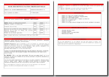 Fiche descriptive d'action professionnelle au sein de l'entreprise Ridoret menuiserie