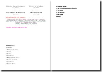 Eléments bio-bibliographiques de l'auteur dans Madame Bovary - Gustave Flaubert