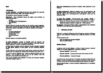 Une introduction au droit : hiérarchie des normes, les juridictions en France, le droit commercial