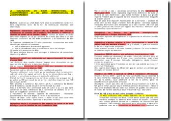 La conjugaison du droit international de l'environnement et du droit communautaire de l'environnement
