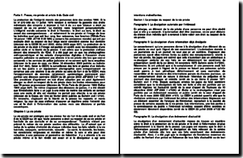 Presse, vie privée et article 9 du Code civil